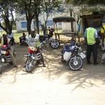 Boda-Boda Motorrad-Taxi Sammelstand
