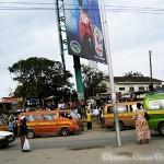 Matatu-Stop in Mombasa