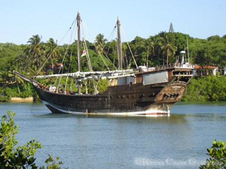 Old Dhow in the Mtwapa Creek
